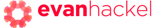 Evan-Hackel_2018_speaking-logo